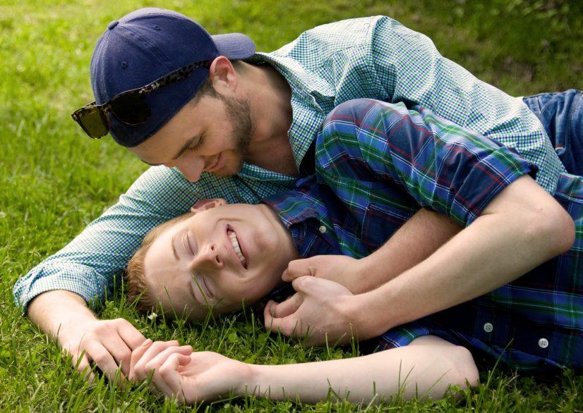 Gay Men on Grass