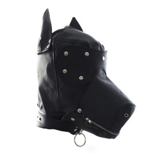 Leather Hood BDSM Play
