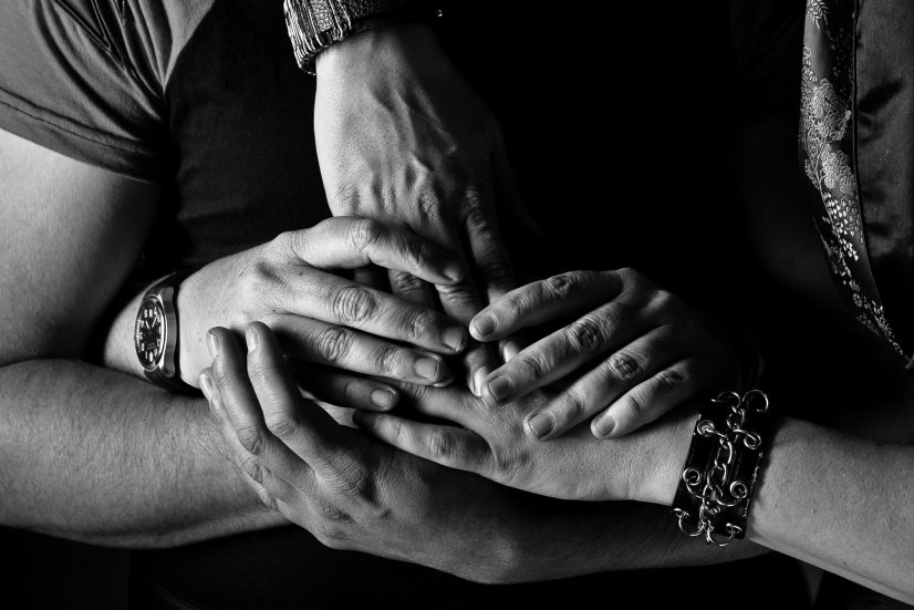 Multiple Hands Grey Scale