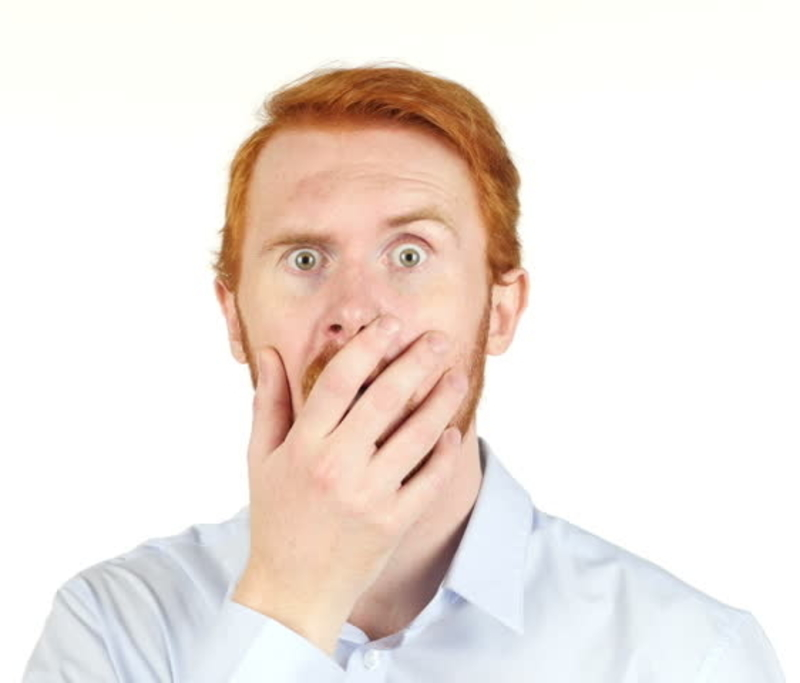 Reaction to broken condom