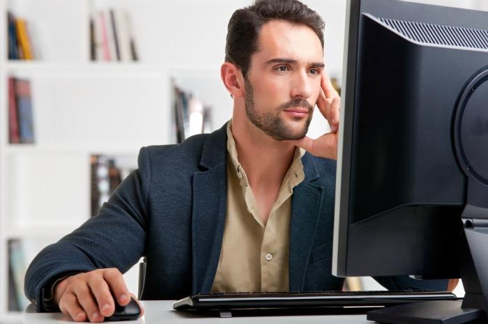 Man Surfing internet for Urethral toys