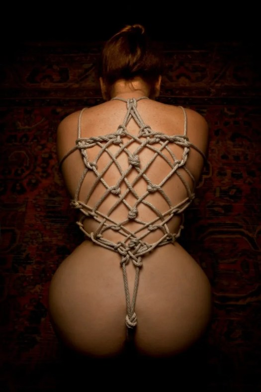 Shibari And Kinbaku Rope Bondage Model