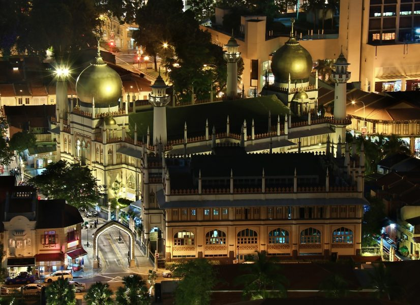 Sultan Mosque at Night