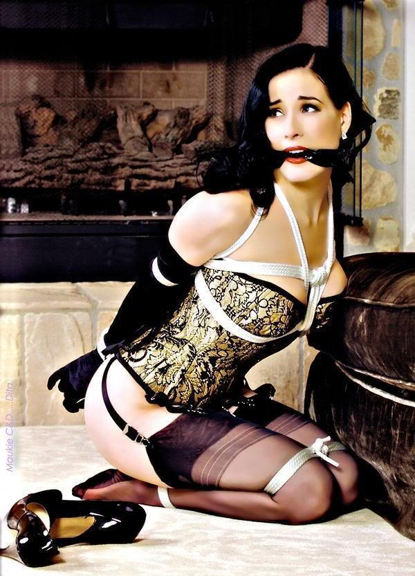 Women in Corset for Slave Relationship