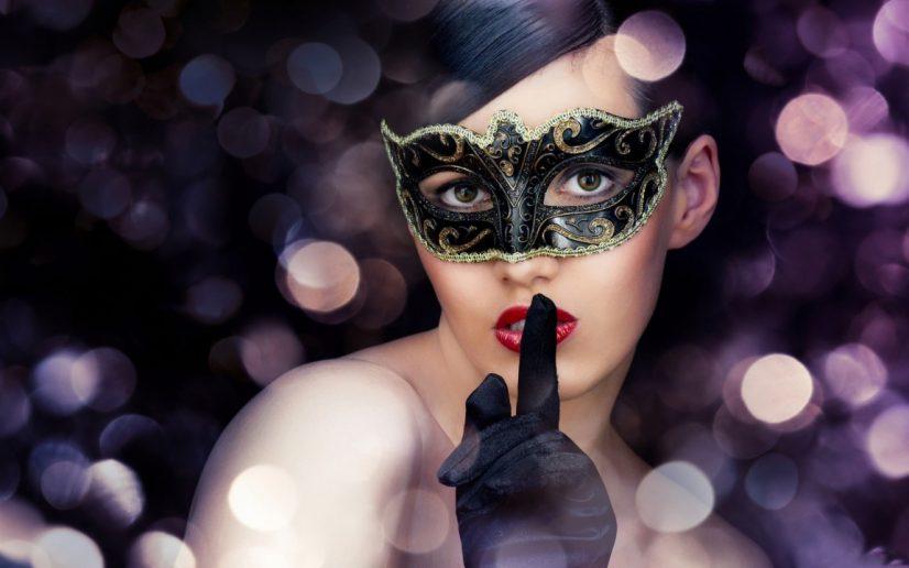 Mask Woman Hushing People
