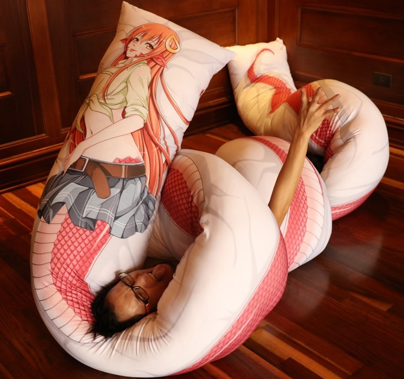 Man with Dakimakura Hug Pillow Photo