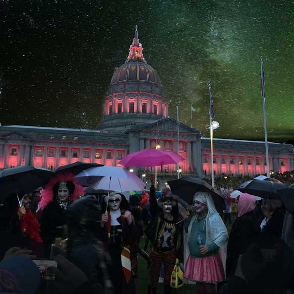 Sisters at San Francisco Women's March Image