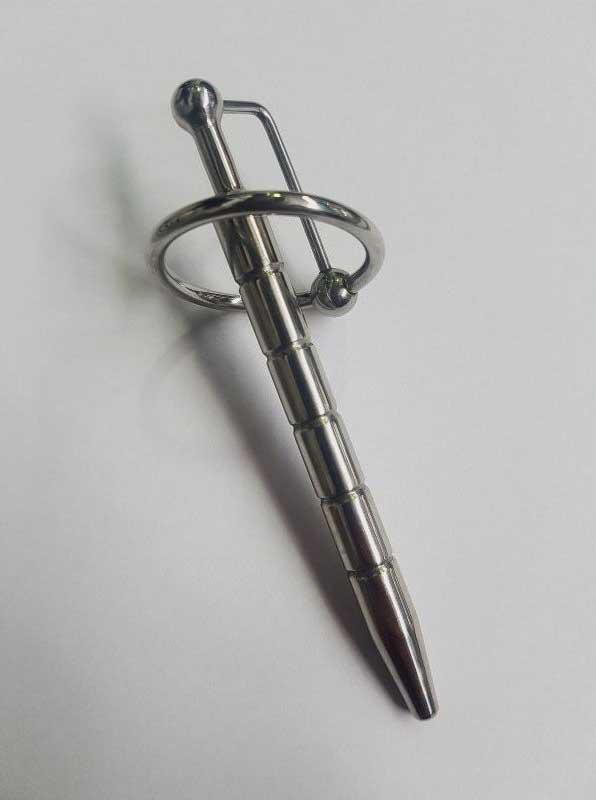 Desire Penis Plug Ribbed, Glans Ring & Ball Image
