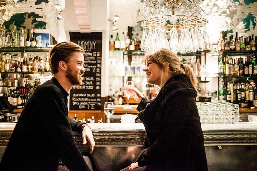 Flirting at a Bar Photo