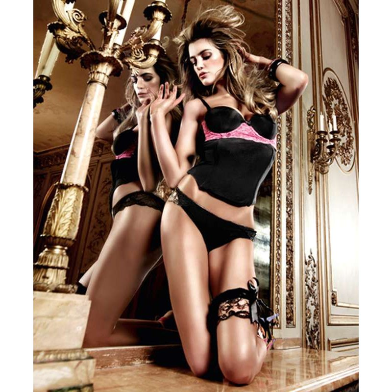 Baci Microfibre And Lace Bustier Photo