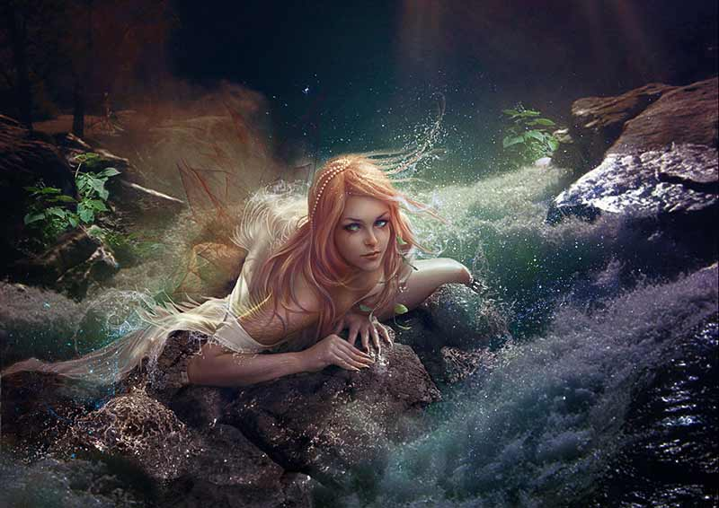 Blonde Mermaid Photo