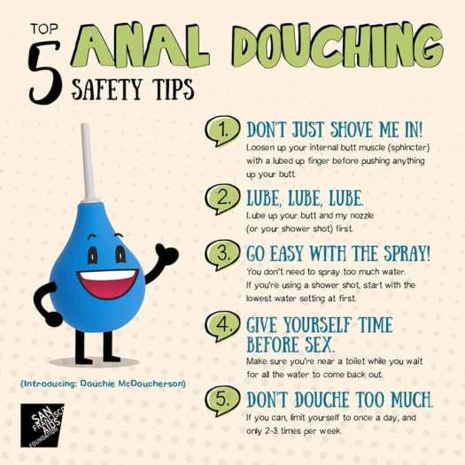 Anal Douching Safety Tips Image