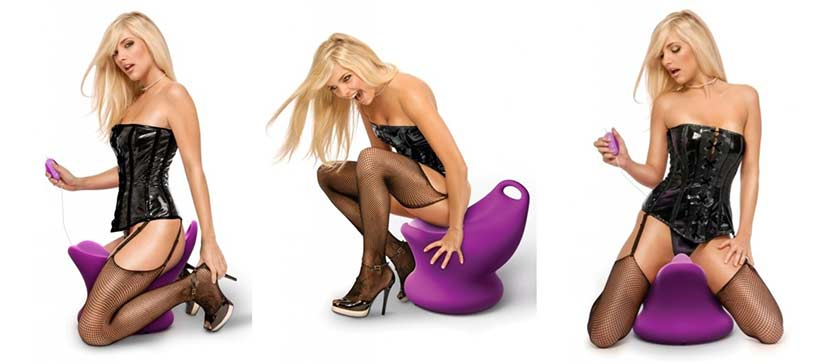 Fetish Fantasy International Rockin' Chair With Woman Sex Toy Image