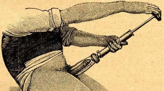 Man Using Penis Pump Cartoon
