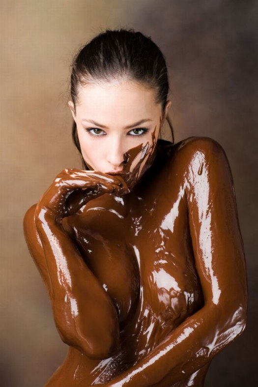 Body Chocolate On Woman