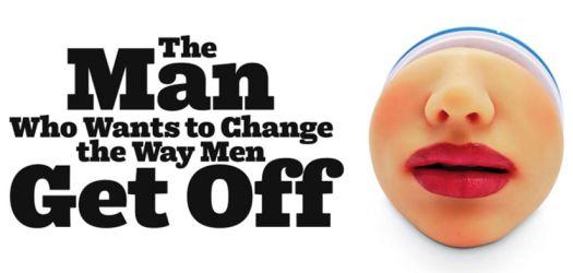 Mens masturbator with realistic red lips