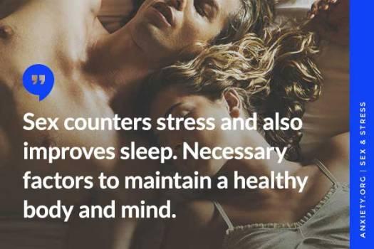 Sex helps stress