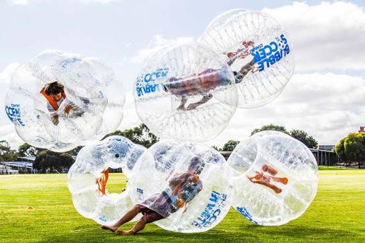 Bubble Soccer ata bucks party