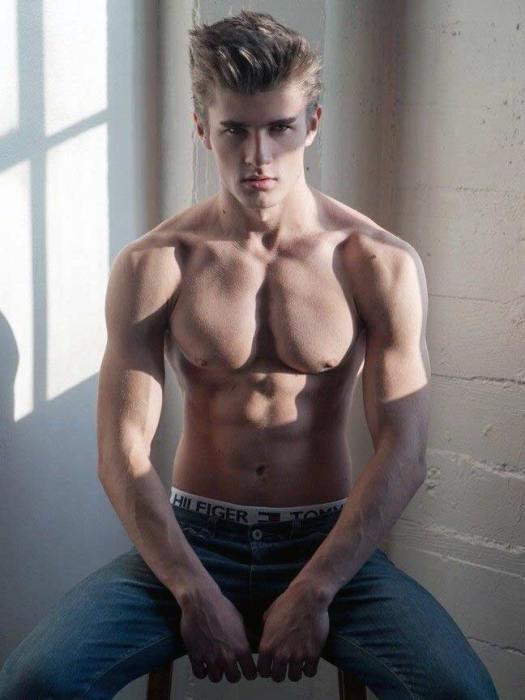 Hot shirtless man