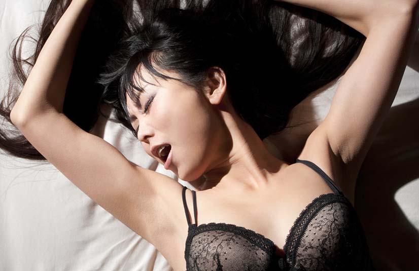 Womans orgasm face