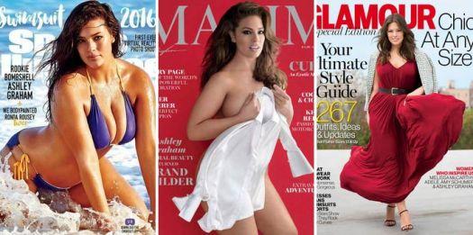 Plus size models on magazines