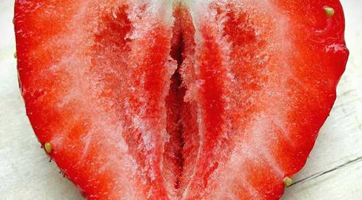 Vulva fruit lookalike