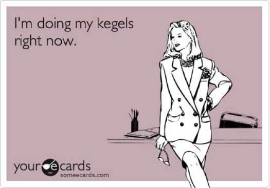Woman performing Kegels