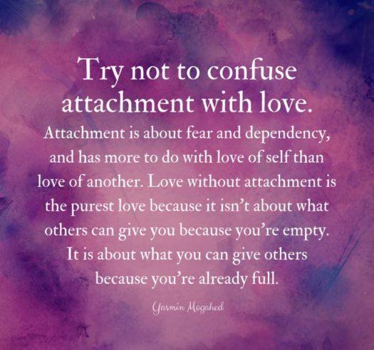 Love and attachment quote