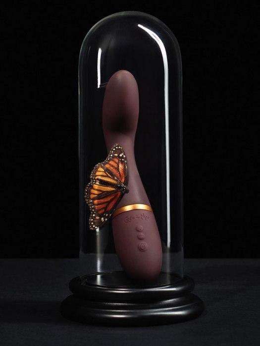 G-spot vibrator on a stand