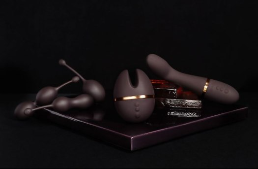 Sex toy collection in purple
