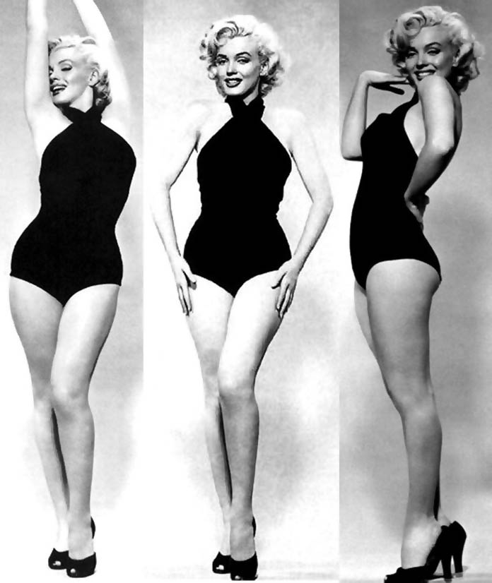 Marilyn Monroe's pinup model style