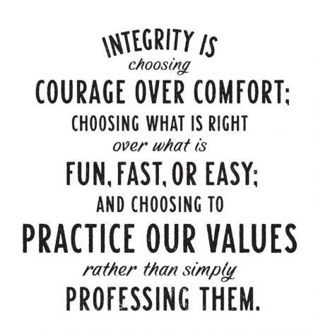 Integrity and courage quote