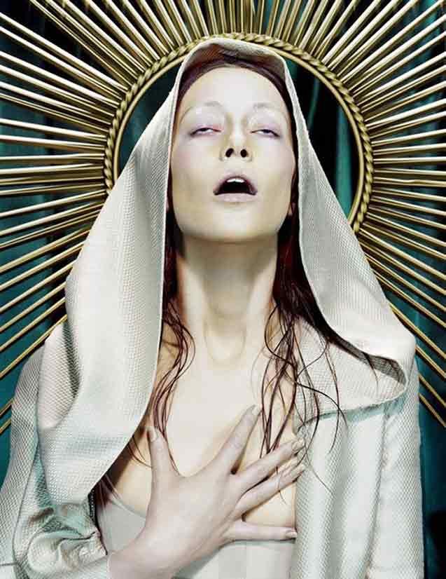 Virgin Mary orgasming