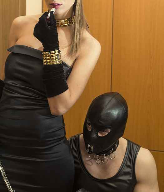 wearing bdsm masks