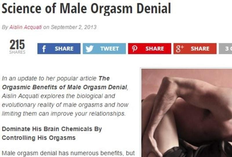 Orgasm denial pic commit