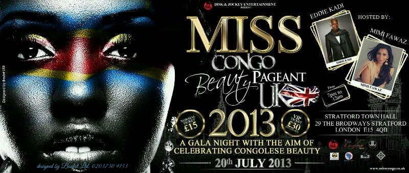 Miss Congo Beauty Pageant UK 2013 Gala Evening