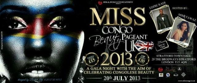 Miss Congo UK 2013