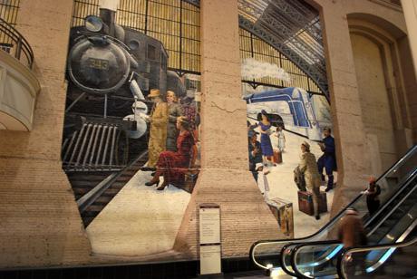Philadelphia subway mural