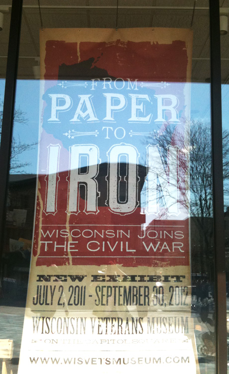 Civil War event poster, Madison, WI