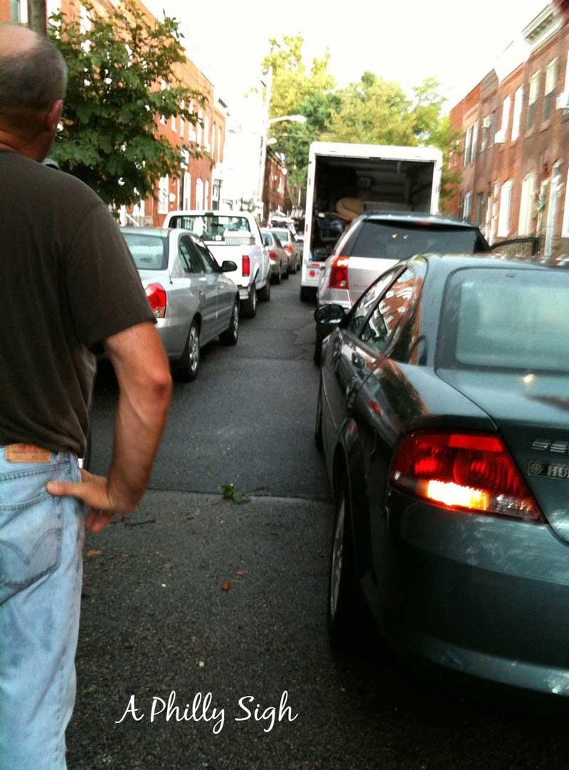 Moving van on a Philadelphia street