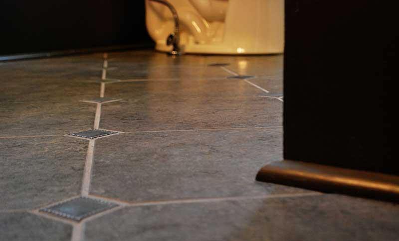 gray bathroom floor tiles