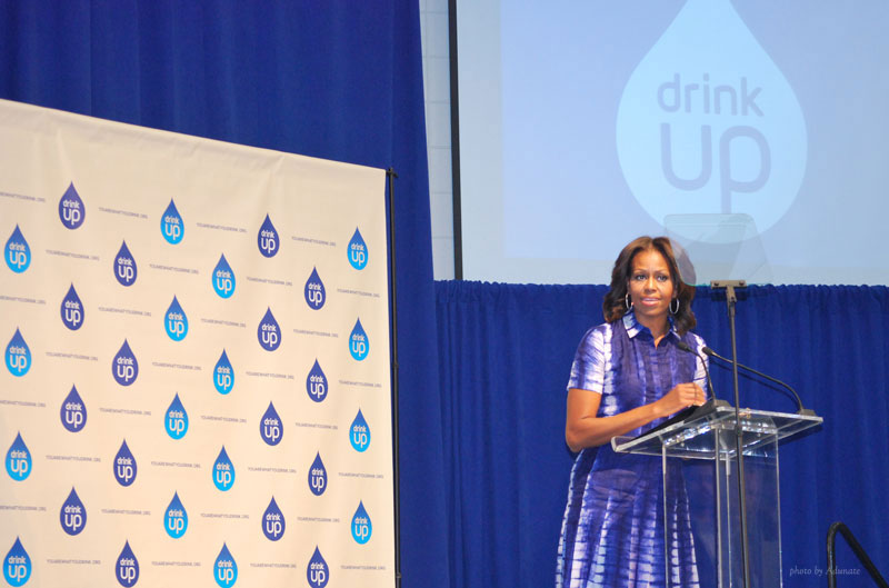 Michelle Obama visits Watertown, WI to promote Drink Up initiative