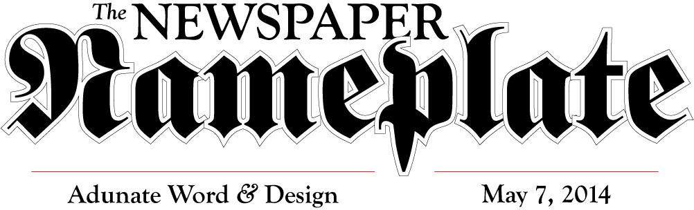 Newspaper nameplate design by Adunate