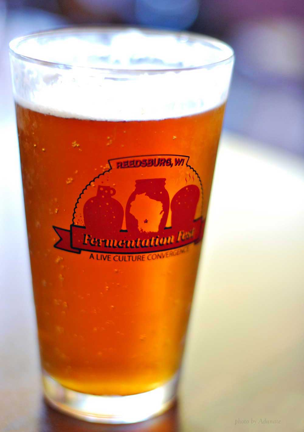 The Corner Pub's Oktoberfest served in a Fermentation Fest glass
