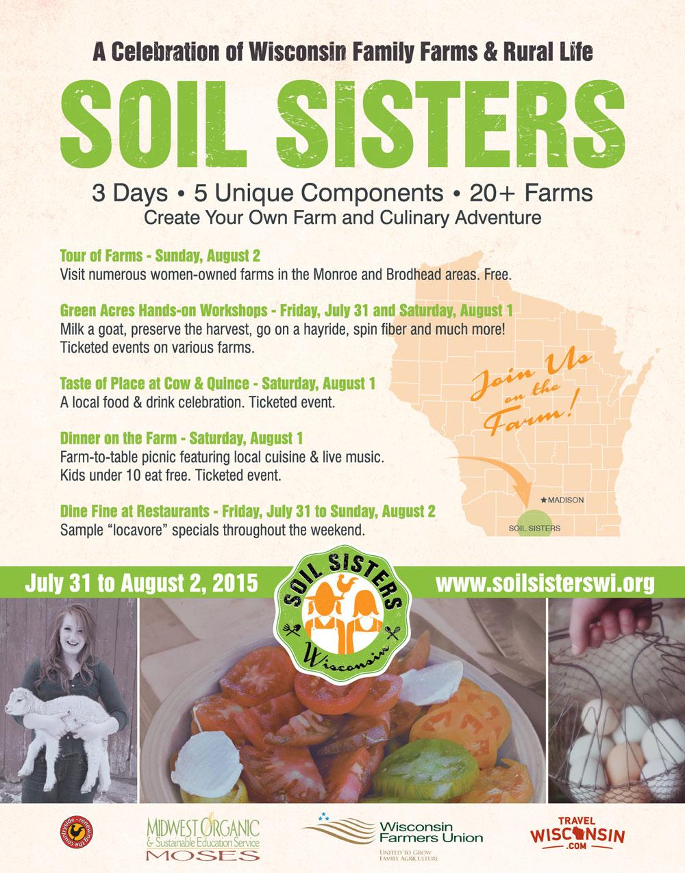 Soil Sisters: July 31-Aug. 2, 2015 in Wisconsin