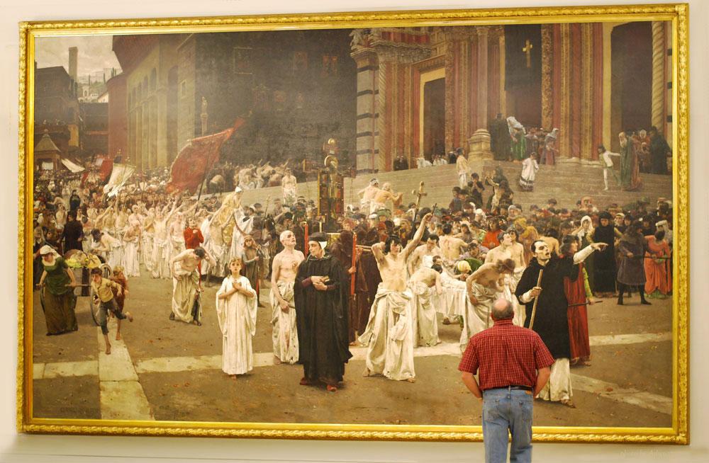 The Flagellants (Procession of the Flagellants), 1889, by Carl von Marr