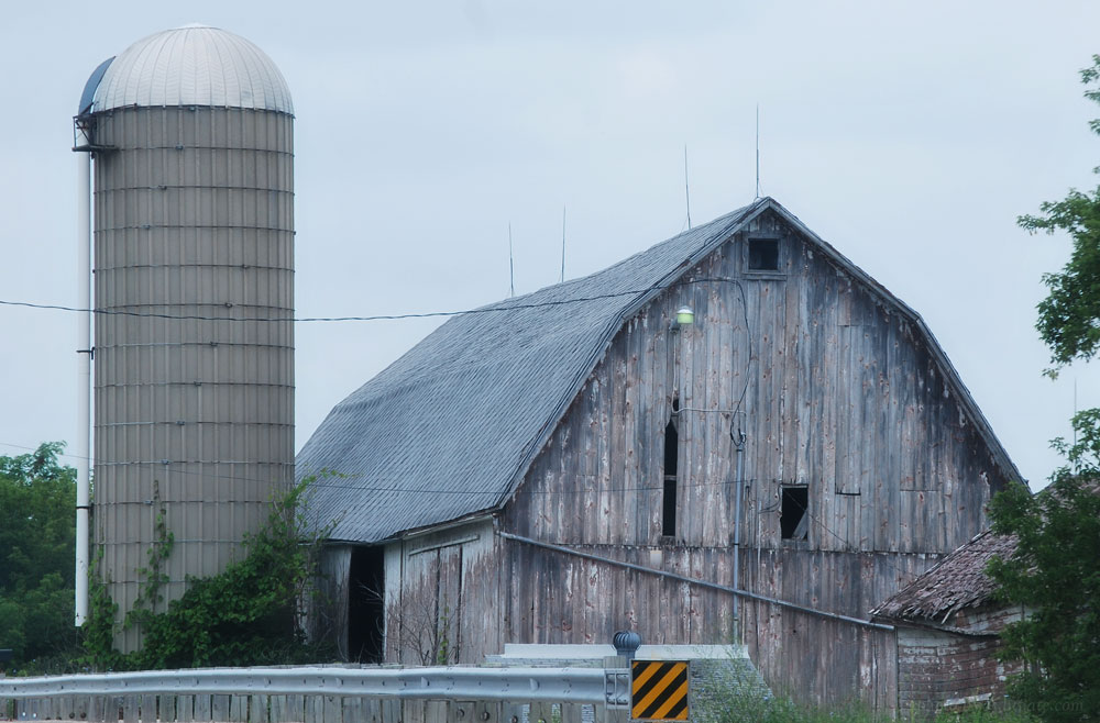 Weathered barn in south central Wisconsin