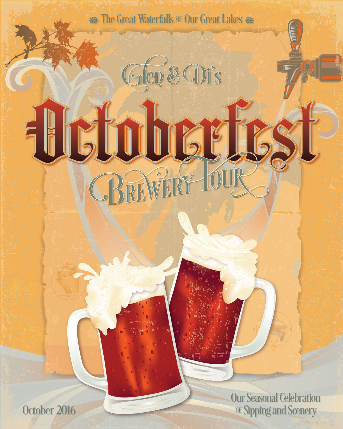 Octoberfest Brewery Tour 2016, promotional poster