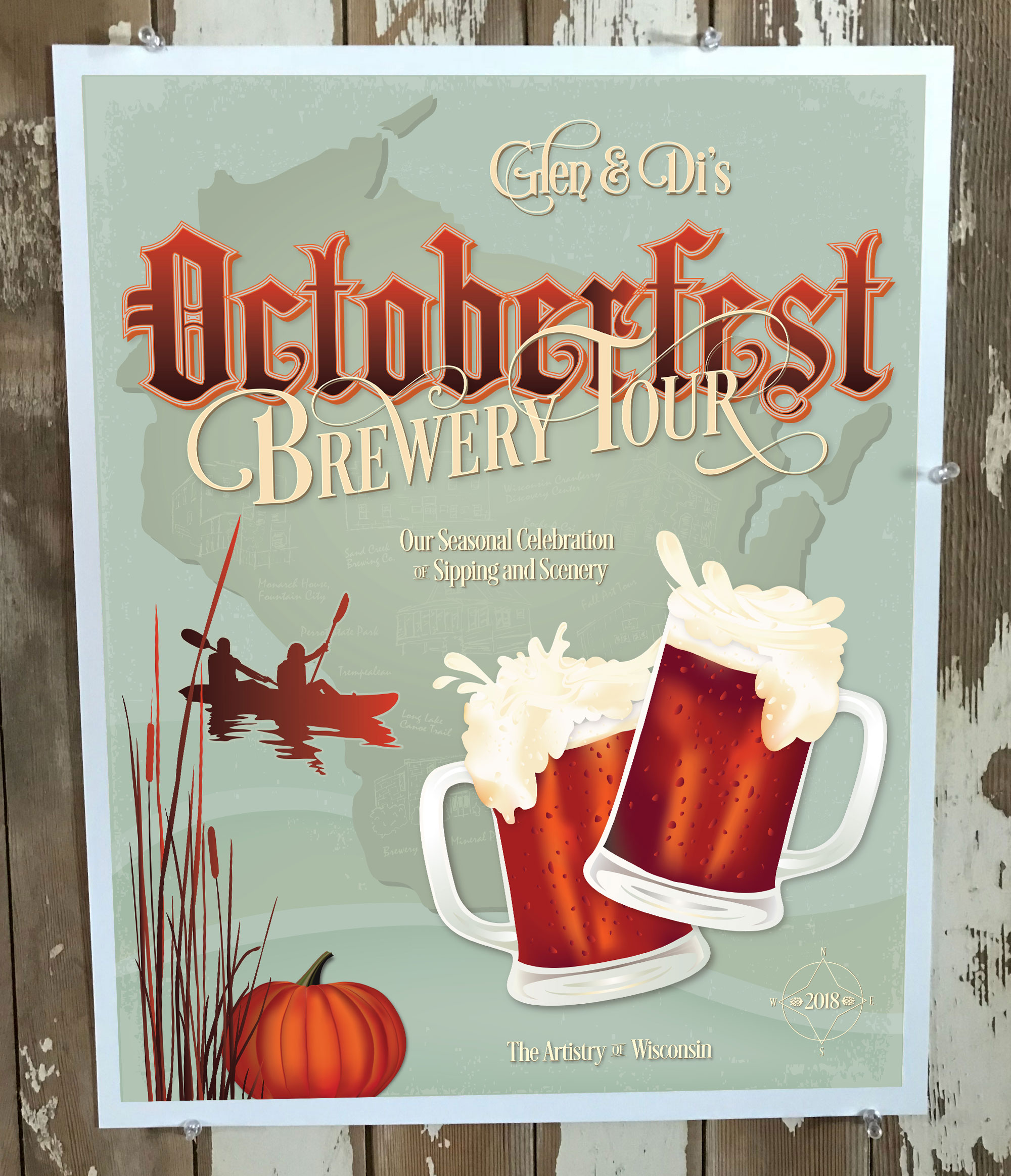 Octoberfest Brewery Tour promotional poster by Adunate