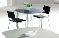 Tisch graphit 90x90cm ausziehbar